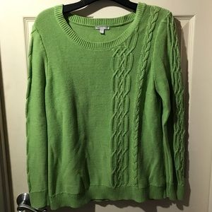 GAP crew offset cable sweater